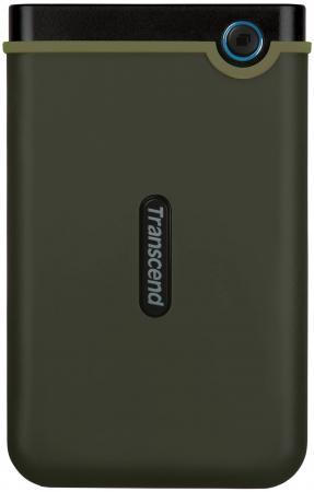 Внешний жесткий диск 2.5 USB3.0 2 Tb Transcend StoreJet 25M3 TS2TSJ25M3 черно-зеленый внешний жесткий диск transcend storejet 25m3 ts1tsj25m3 1тб черный