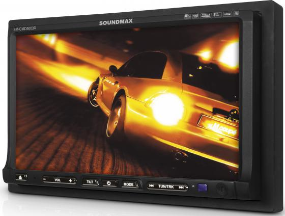 Автомагнитола Soundmax SM-CMD5003G 7 480х234 CD DVD USB MP3 FM RDS SD MMC 1DIN 4x50Вт пульт ДУ черный автомагнитола supra scd 402u usb mp3 cd fm sd mmc 1din 4x50вт черный