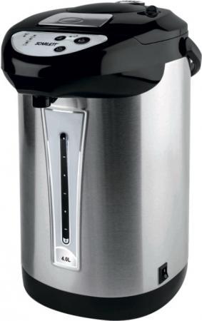 Термопот Scarlett SC-ET10D02 750 Вт серебристый чёрный 4 л металл цена и фото