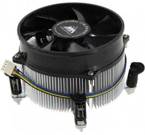 Кулер для процессора GlacialTech IceHut 1150 PWM (E) Socket 1150/1155/1156 4pin 18-35dB Al 95W 390g клипсы Bulk