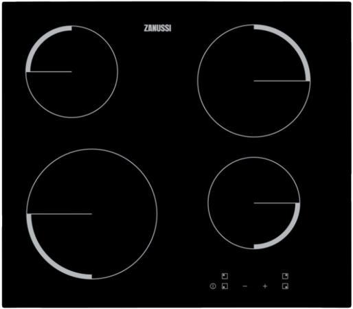 Варочная панель электрическая Zanussi ZEV56240FA черный zanussi zgg966424p bronze