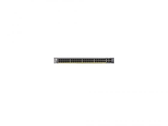 Коммутатор Netgear FSM7250P-100NES управляемый 48 портов Ethernet 10/100Mbps uplin 2xEthernet 10/100/1000Mbps 2 слота unlocked netgear aircard 790s ac790s 300mbps mobile hotspot wifi router 4g free gift commemorative coin