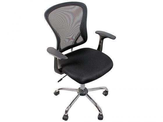 Кресло College H-8369F ткань офисное крестовина хромированный металл подлокотники пластик черный кресло офисное college h 8369f