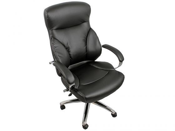 Кресло руководителя College H-9582L-1K экокожа крестовина хром подлокотники кожа/хром черный