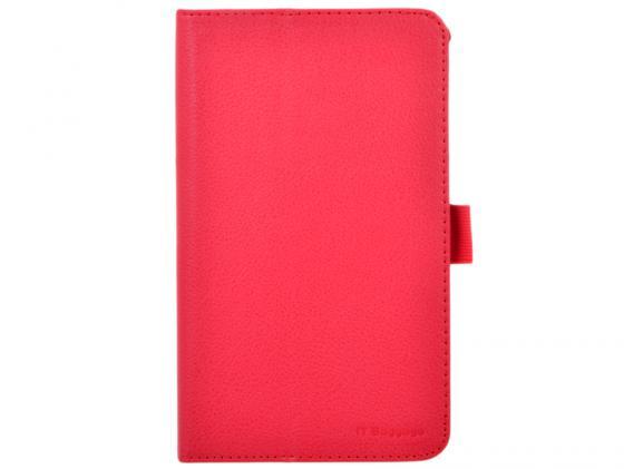 Чехол IT BAGGAGE для планшета Asus Fonepad 7 FE170CG ME170С искуственная кожа красный ITASFE1702-3 чехол для планшета it baggage для ipad 2017 9 7 hard case иск кожа красный itipad51 3