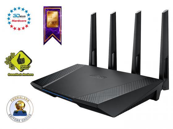 Беспроводной маршрутизатор ASUS RT-AC87U 802.11acbgn 2334Mbps 5 ГГц 2.4 ГГц 4xLAN USB3.0 черный маршрутизатор asus rt n56u 802 11n 300mbps 5 ггц 4xlan usb usb черный