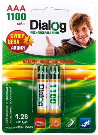 Аккумуляторы 1100 mAh Dialog HR03/1100-2B AAA 2 шт