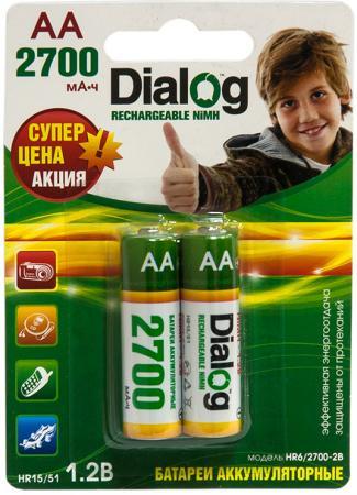 Аккумуляторы 2700 mAh Dialog HR6/2700-2B AA 2 шт