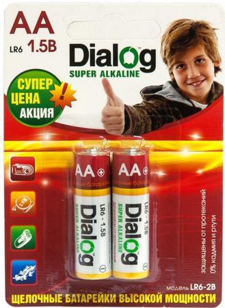 Батарейки Dialog LR6-2B AA 2 шт