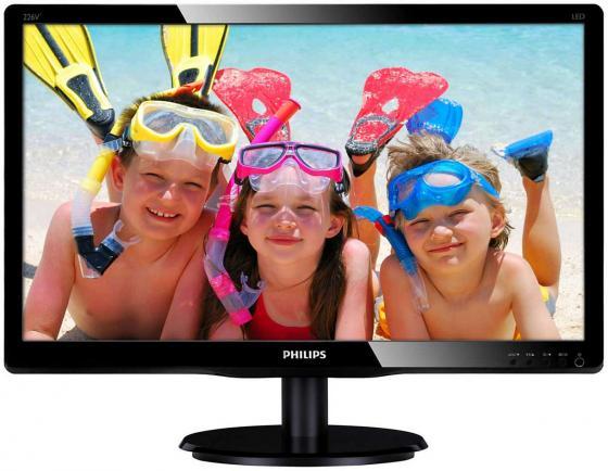 Монитор 21.5 Philips 226V4LSB/01 черный TN 1920x1080 250 cd/m^2 5 ms DVI VGA монитор 22 lg 22m38d b черный tn 1920x1080 200 cd m^2 5 ms vga dvi