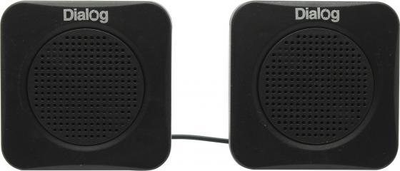 Колонки Dialog Colibri AC-01UP 1Вт USB черный компьютерная акустика dialog ac 04up черный оранжевый ac 04up black orange