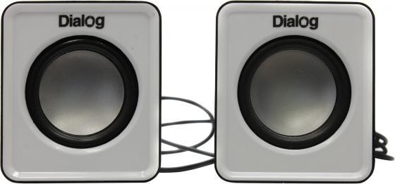 Колонки Dialog Colibri AC-02UP 6Вт USB черно-белый цена и фото