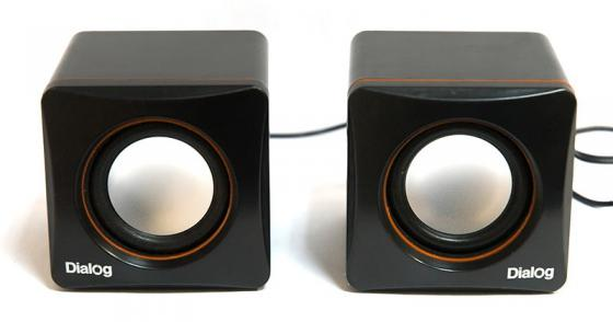 Колонки Dialog Colibri AC-04UP 6Вт USB черно-оранжевый компьютерная акустика dialog ac 04up черный оранжевый ac 04up black orange