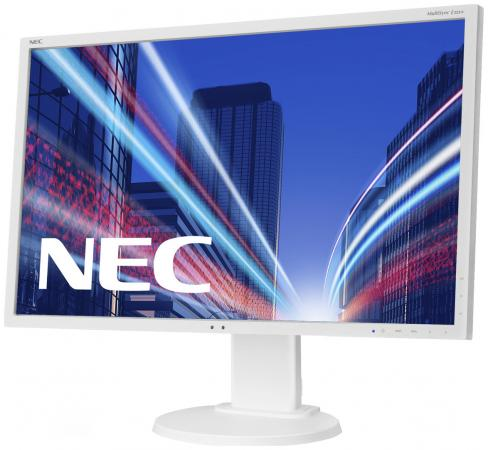 Монитор 22 NEC E223W серебристый белый TN 1680x1050 250 cd/m^2 5 ms DVI DisplayPort VGA монитор 21 5 hp vh22 черный tn 1920x1080 250 cd m^2 5 ms dvi vga displayport x0n05aa