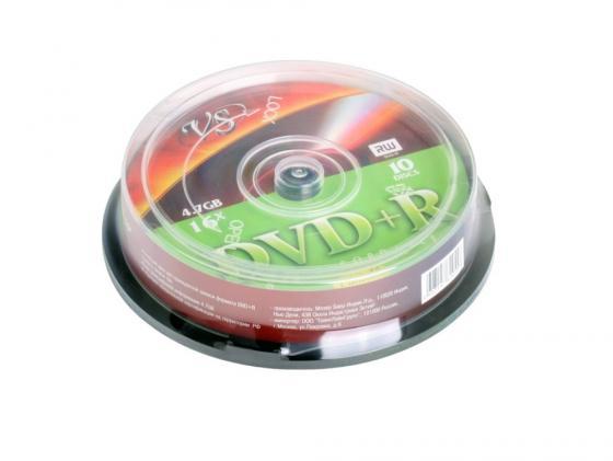 Диски DVD+R VS 4.7Gb 16х Shrink/10шт 62040 dvd r vs 4 7gb 16х 10шт cake box