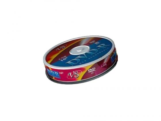 Диски DVD-R VS 16x 4.7Gb Shrink/10 62032 диски cd dvd thunis dvd r dvd r 16x 25