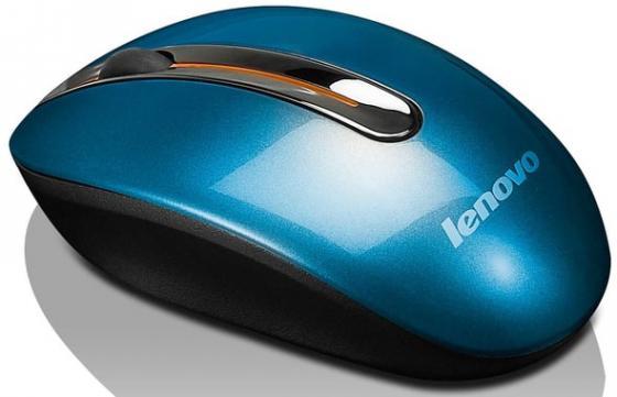 Мышь беспроводная Lenovo N3903 Coral blue синий USB