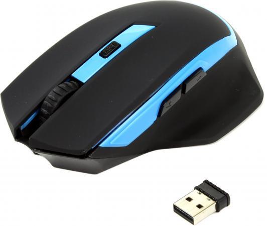лучшая цена Мышь беспроводная Oklick 630LW чёрный голубой USB