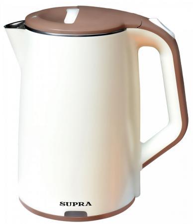 Чайник Supra KES-2005 2200 Вт серебристый чёрный 2 л металл/стекло чайник supra kes 1838 2200 вт 1 8 л