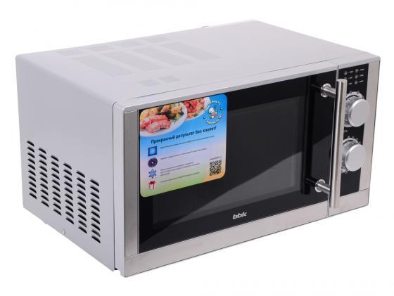 Микроволновая печь BBK 23MWS-929M/BX 900 Вт чёрный серебристый микроволновая печь bbk 23mws 927m w 900 вт белый