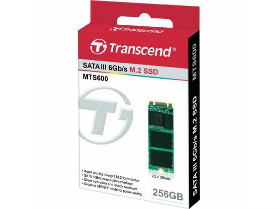 Твердотельный накопитель SSD M.2 256GB Transcend MTS600 Read 560Mb/s Write 320mb/s SATAIII TS256GMTS600 твердотельный накопитель ssd m 2 64gb transcend mts600 read 560mb s write 310mb s sataiii ts64gmts600