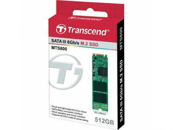 Твердотельный накопитель SSD M.2 512GB Transcend MTS800 Read 560Mb/s Write 450mb/s SATAIII TS512GMTS800 твердотельный накопитель ssd m 2 512gb transcend mts600 read 560mb s write 160mb s sataiii ts512gmts600