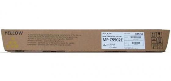 Тонер-картридж Ricoh MP C5502E для Aficio MP C4502 C5502 желтый 842021 tprhm c3002 premium laser copier toner powder for ricoh aficio mp c3002 c3502 c4502 c5502a c5502 1kg bag color free fedex