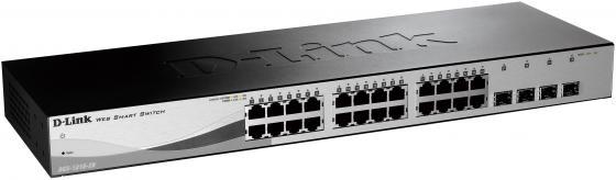 Коммутатор D-LINK DGS-1210-28/C1A/F1A 24порта 10/100/1000Mbps 4xSFP коммутатор d link des 1210 28 c1a