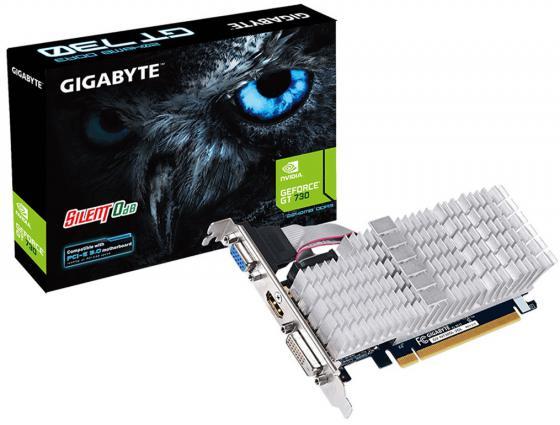 Видеокарта 2048Mb Gigabyte GT730 PCI-E GDDR3 64bit HDMI DVI HDCP GV-N730SL-2GL Retail видеокарта 2048mb gigabyte gt730 pci e gddr5 64bit vga hdmi dvi hdcp gv n730d5 2gi retail