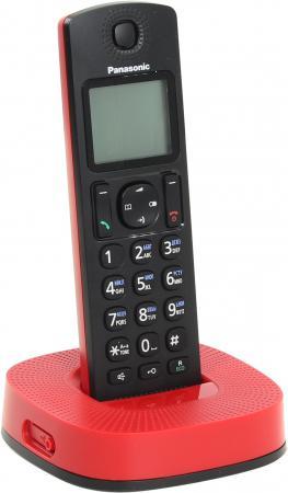Радиотелефон DECT Panasonic KX-TGC310RUR черно-красный радиотелефон panasonic kx tg8551 белый kx tg8551ruw