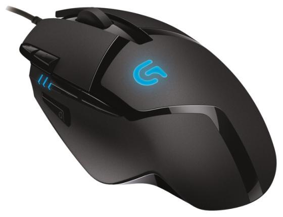 Мышь проводная Logitech G402 Hyperion Fury чёрный USB 910-004067