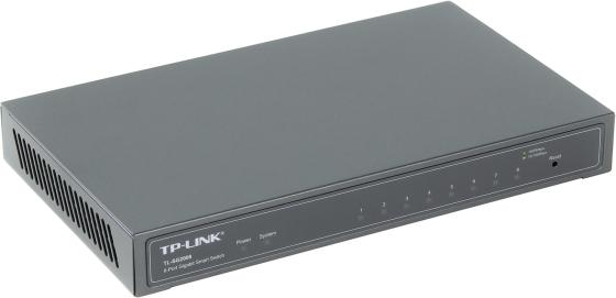 Коммутатор TP-LINK TL-SG2008 8 портов 10/100/1000Mbps коммутатор tp link tl sf1008d 8 port 10 100m mini desktop switch 8 10 100m rj45 ports plastic case