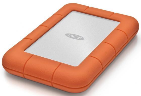 Внешний жесткий диск 2.5 USB3.0 1Tb Lacie Rugged Mini 301558 оранжевый lacie rugged mini 2tb внешний жесткий диск