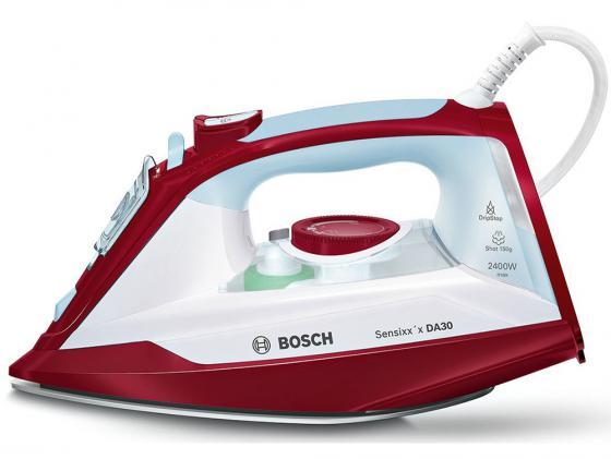 Утюг Bosch TDA3024010 2400Вт подача пара 40 г/мин пар.удар 150 г/мин белый/красный пила дисковая bosch gks 55 g 601682000