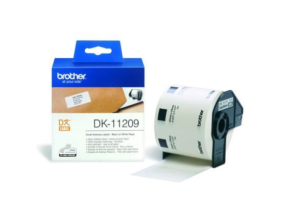 Фото - Наклейки Brother DK11209 адресные 62х29мм 800шт в рулоне английский для малышей буква за буквой наклейки