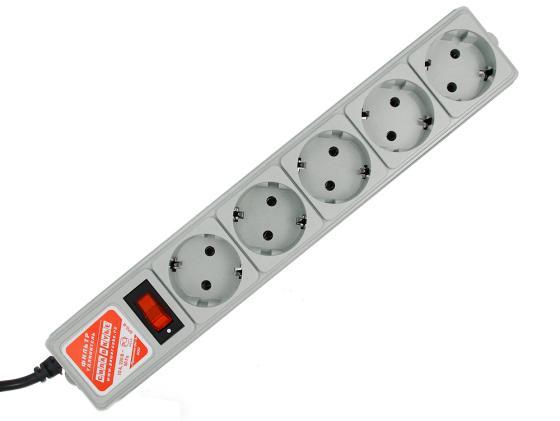 Сетевой фильтр Power Cube SPG-B-15 5 розеток 5 м серый сетевой фильтр 3м 5роз серый power cube spg b 10
