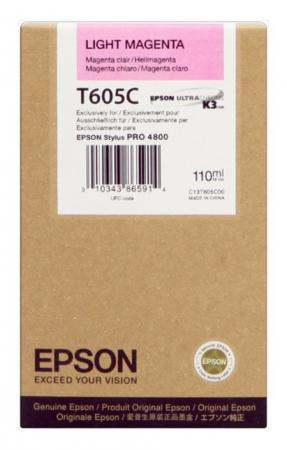 Картридж Epson C13T605C00 для Stylus Pro 4800 светло-пурпурный epson t7014 xl c13t70144010 yellow картридж для workforce pro wp 4000 5000 series