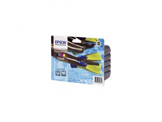 Картридж Epson C13T58464010 для Epson PictureMate цветной + фотобумага 150л epson фотобумага струйная печатная бумага