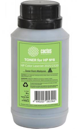 Тонер Cactus CS-THP8BK-90 для HP Color LaserJet 2025/2320 черный 90гр tph 1215 2c laser toner powder for hp cp 1215 1515 1518 2020 2025 cm 2320 1312 1300 bkcmy 1kg bag color