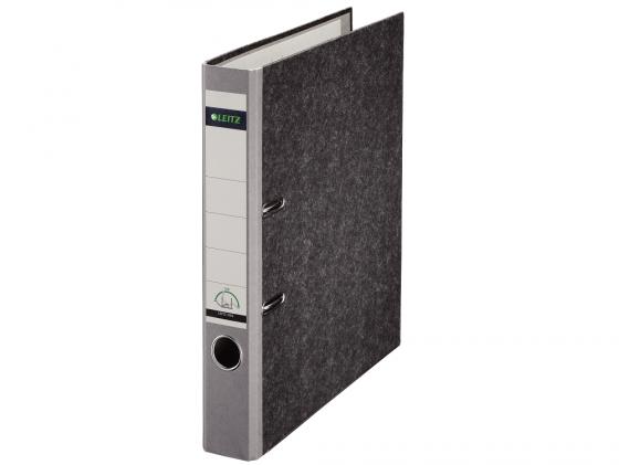 Папка-регистратор Leitz А4 50мм картон серый 10500285