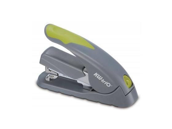 Степлер KW-trio 5618gr/green Soft-touch до 40 листов скобы 24/6-24/8 26/6 26/8 100 скоб серо-зеленый free shipping 10 6 inch touch screen 100