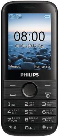 Мобильный телефон Philips E160 черный 2.4 philips e160