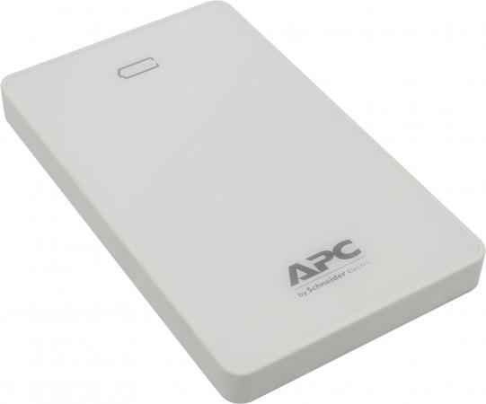 Портативное зарядное устройство APC Mobile Power Pack 10000mAh Li-polymer EMEA/CIS/MEA белый M10WH-EC внешний аккумулятор apc m10wh ec 10000mah белый