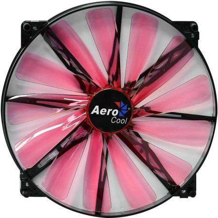 Вентилятор Aerocool Lightning 200mm красная подсветка 4713105951387 цена и фото