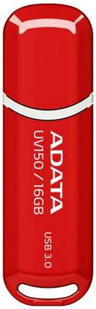 Флешка USB 16Gb A-Data UV150 USB3.0 AUV150-16G-RRD красный флешка usb 128gb a data uv150 usb3 0 auv150 128g rbk черный