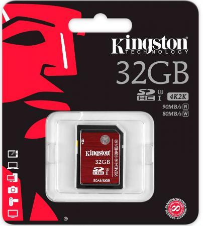 Карта памяти SDHC 32GB Class 10 Kingston SDA3/32GB стоимость