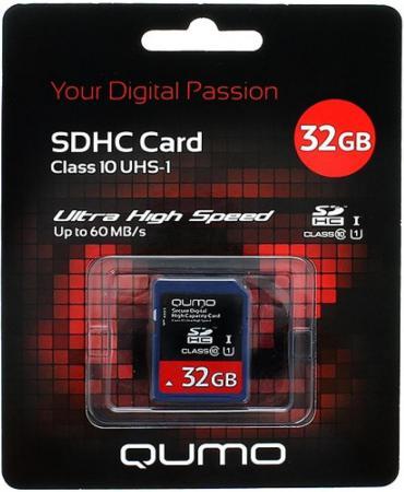 Карта памяти SDHC 32Gb QUMO Class 10 QM32GSDHC10 qumo sdhc 32 gb class 6
