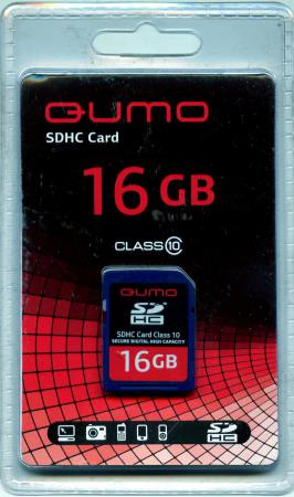 Карта памяти SDHC 16Gb QUMO Class 10 QM16GSDHC10 карта памяти sony sdhc 16gb class 10 sf16uyt