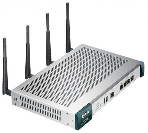 Точка доступа Zyxel UAG4100 802.11bgn 300Mbps 2.4 ГГц 4xLAN USB серебристый