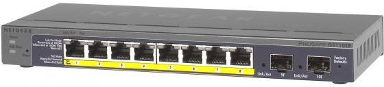 Коммутатор Netgear GS110TP-200EUS управляемый 8 портов 10/100/1000Mbps 2xSFP unlocked netgear aircard 790s ac790s 300mbps mobile hotspot wifi router 4g free gift commemorative coin